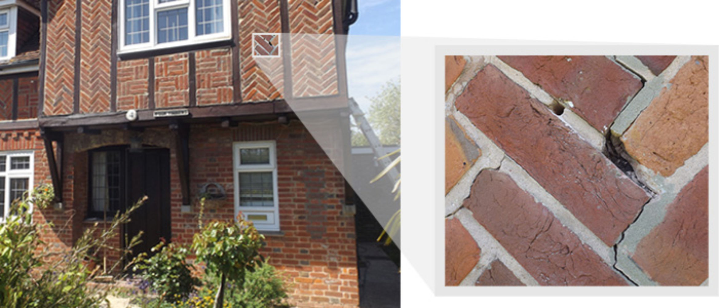 Zig-Zag Cracks in Herrigbone Brickwork
