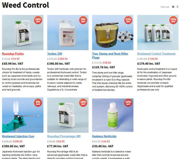 Weed Control Products