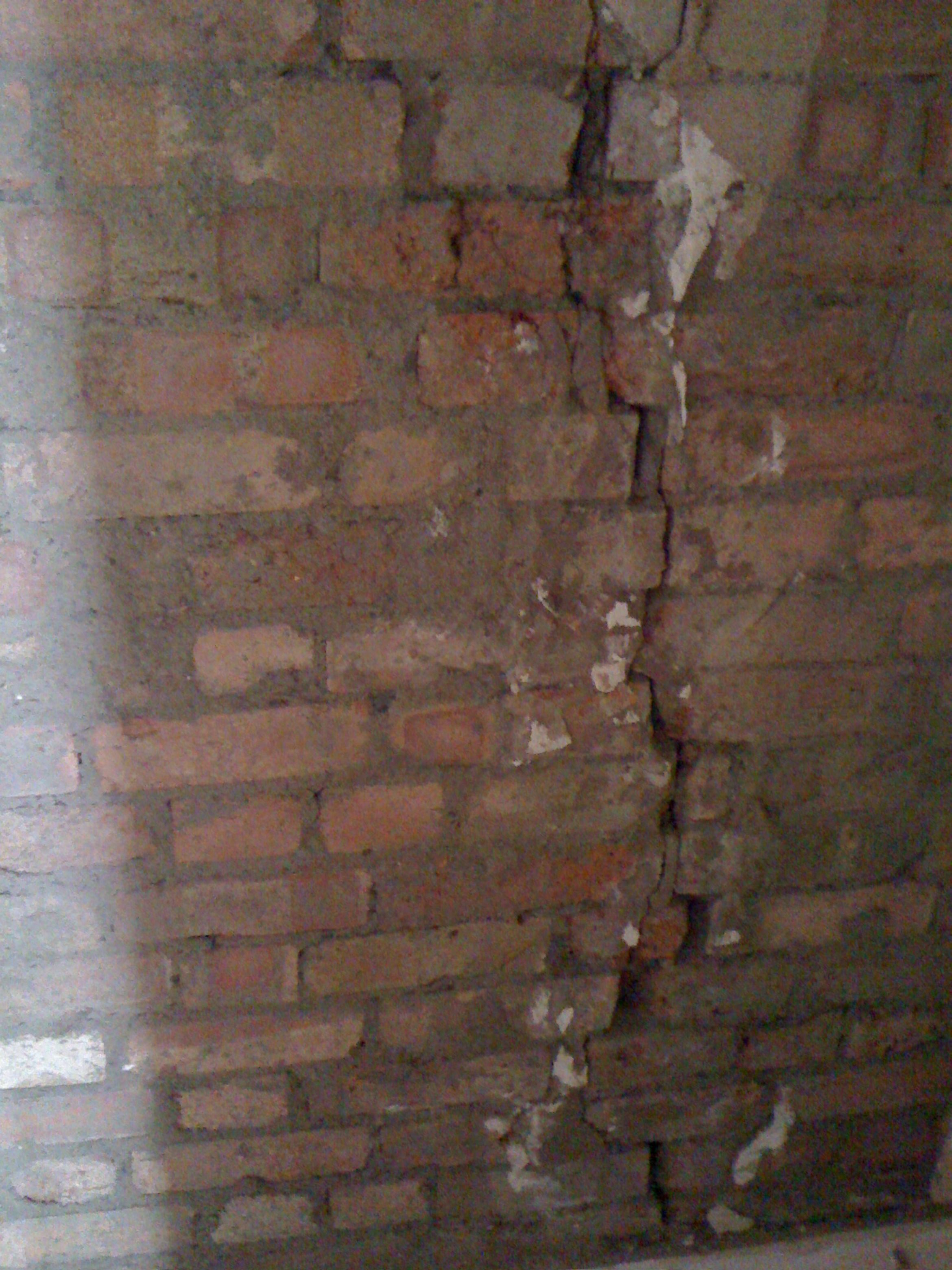 A long crack had appeared on an internal wall of the house