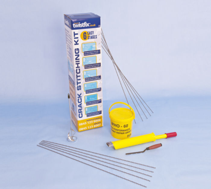 KIT FOR REPAIRING CRACKS IN WALLS